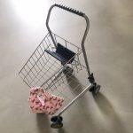 Winkelwagentje met diy tote bag