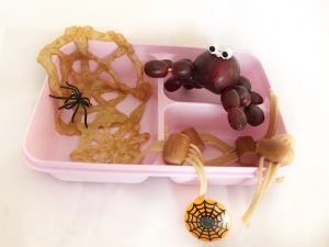 Halloween bento lunch - spinnen