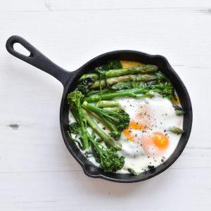 Weekoverzicht lunch: groene asperges met ei