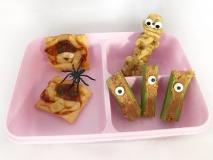 Halloween bento lunch - mummie