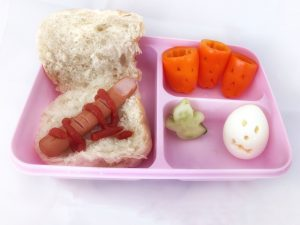 Halloween bento lunch - creepy knakworst