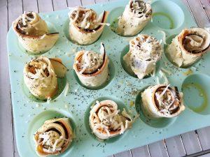 Handige hapjes groententornado's in de oven