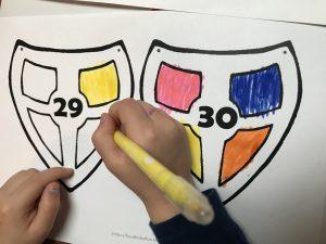 Schoenzet kalender - kleuren
