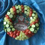 Kerstdiner op school - gezonde kerstkrans