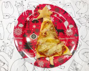 Kerstdiner met kinderen - kerstboompizza 2