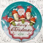 Kerstdiner met kinderen - kerstmanfruit