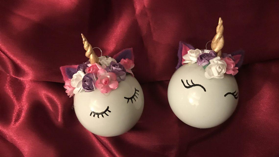 Easypeasy DIY: Unicorn-kerstballen