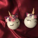 Unicorn / eenhoorn kerstbal - resultaat