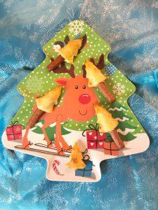 Kerstdiner op school - bladerdeeg kerstboom