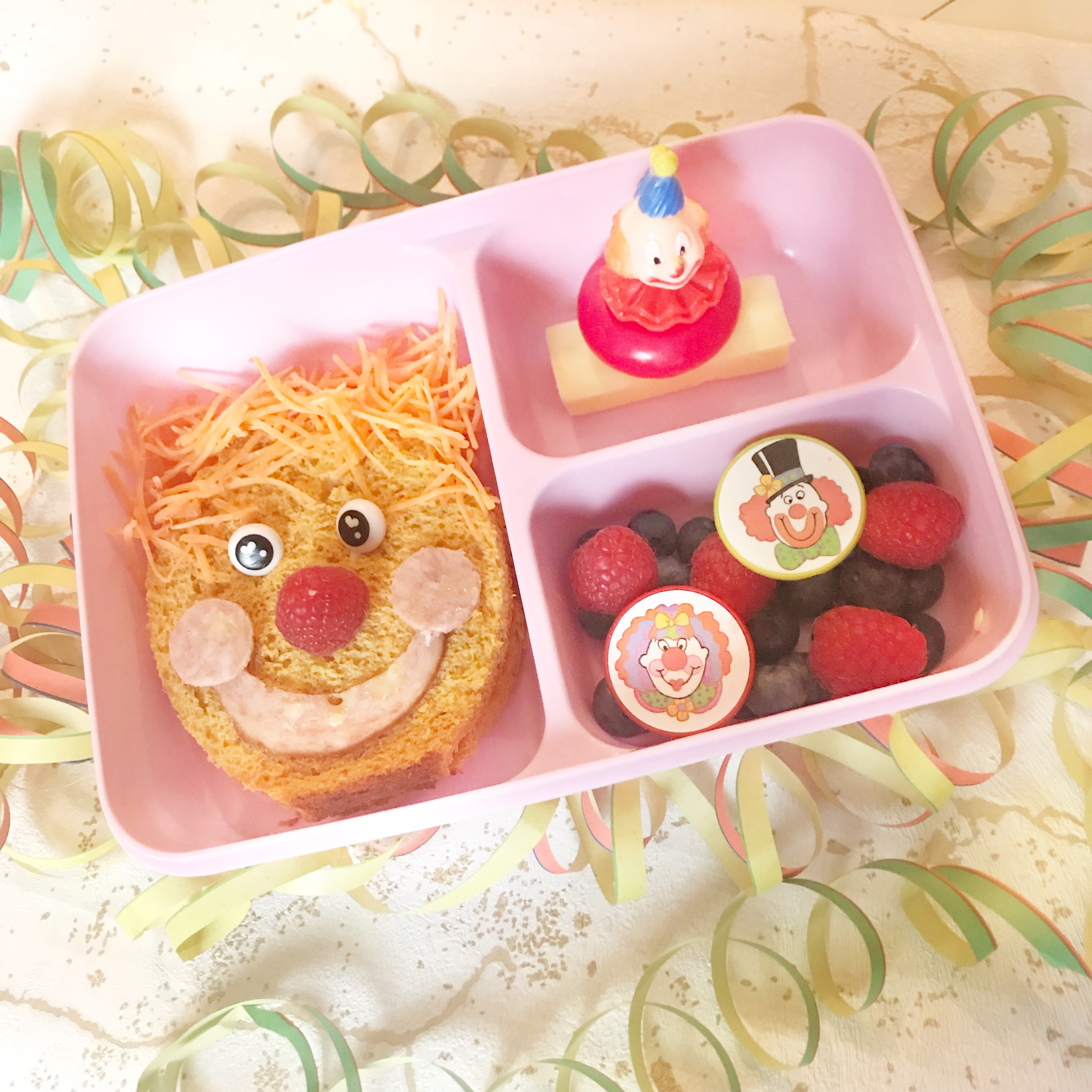 bento lunch carnaval clown