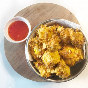 Kipnuggets tortillachips - snack airfryer oven