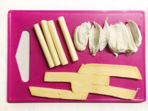 Krokante kaasstengels - kaas gesneden