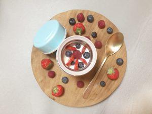 Review Flaske FoodPot - yoghurt fruit