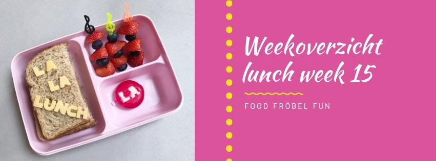 Weekoverzicht lunch week 15