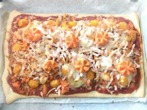 Snack koningsdag pizza - resultaat
