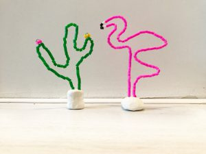 diy deco flamingo deco cactus
