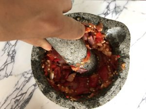 weekoverzicht week 28 - sambal maken