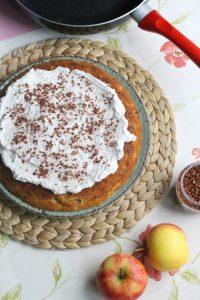 koken op de camping - cake uit de koekenpan