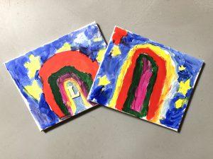 wat te doen met regen met kinderen - schilderen