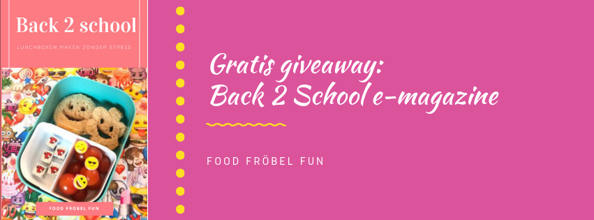 Gratis giveaway: Food Fröbel Fun Back 2 School e-magazine