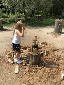 prehistorisch dorp hout klieven