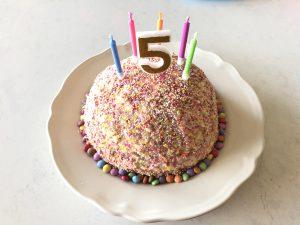 taart verjaardag kind 5 jaar