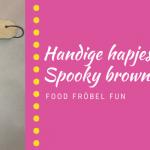 banner halloween spooky brownie
