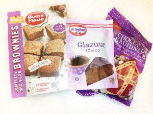 sinterklaas brownie kruidnoten - benodigdheden