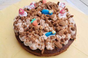 sintsnoep over - kruidnotencake met karameltopping