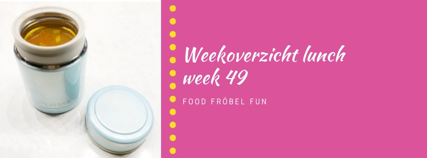 Weekoverzicht lunch week 49