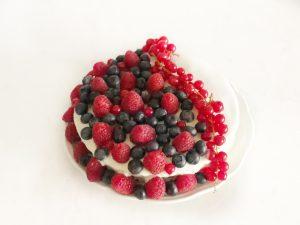 gezonde slanke proteïnerijke taart