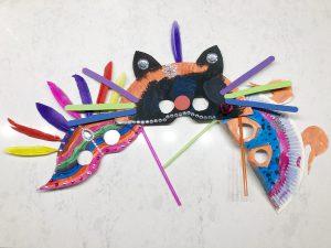 masker carnaval maken knutselen - resultaat