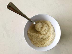 eierkoeken maken - mixen droge ingrediënten