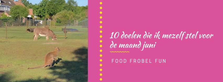 10 doelen die ik mezelf stel voor de maand juni