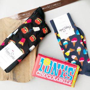 cadeau hemd voor hem happy socks vaderdag