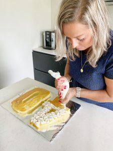 decoreren taart mascarponecreme