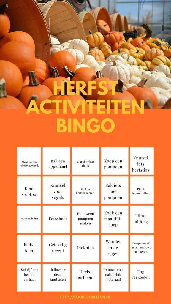 leuke activiteiten herfst - bingo printable