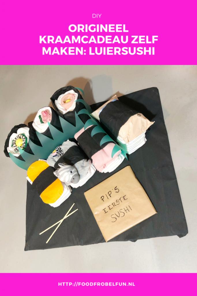 origineel kraamcadeau Sushi luier pinterest