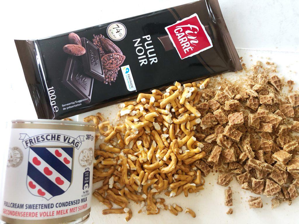Ingrediënten chocoladefudge