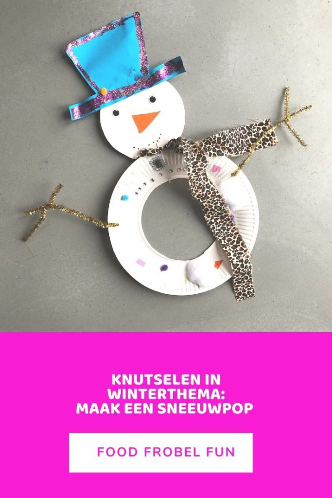 knutselen in winterthema sneeuwpop - pinterest