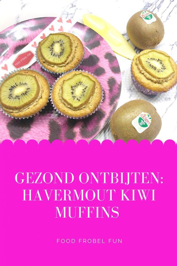 gezond ontbijt kiwi muffin bakken - pinterest