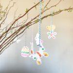 knutselen voor pasen hangers maken