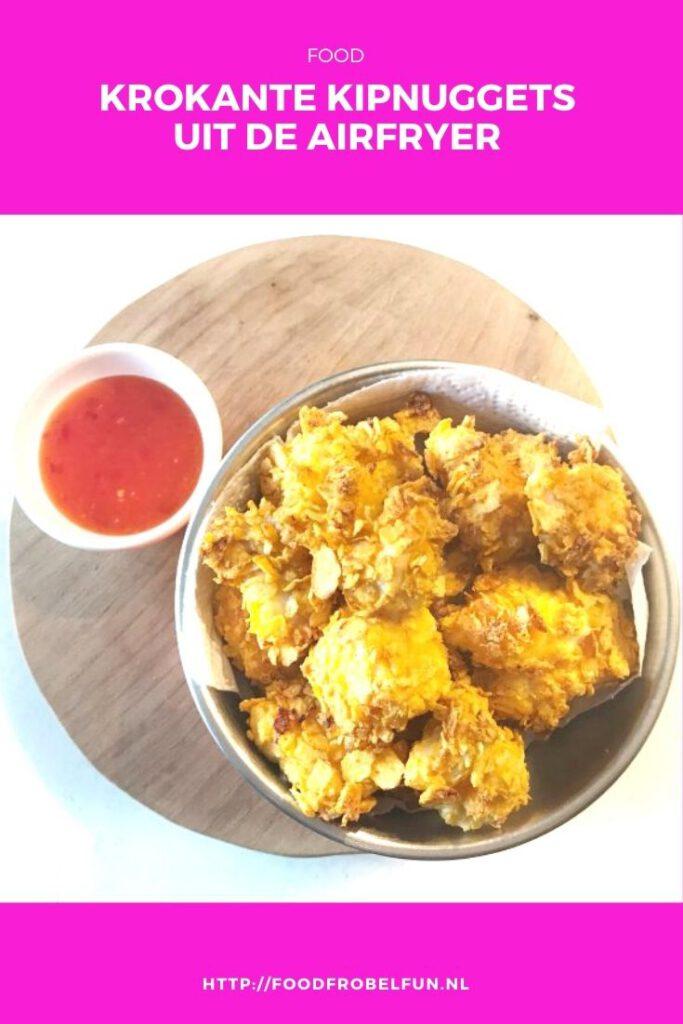 krokante kipnuggets uit de airfryer - pinterest