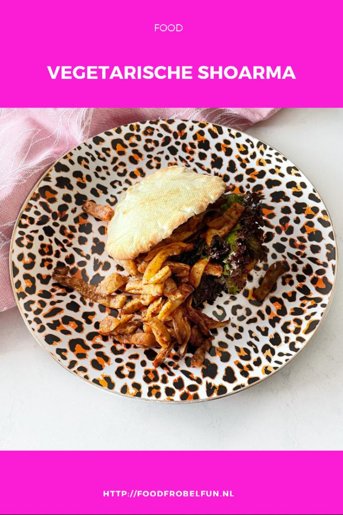 recept vegetarische vegan shoarma - pinterest