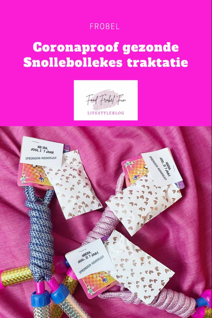 Pinterest - Coronaproof gezonde Snollebollekes traktatie voor op school zelf maken.