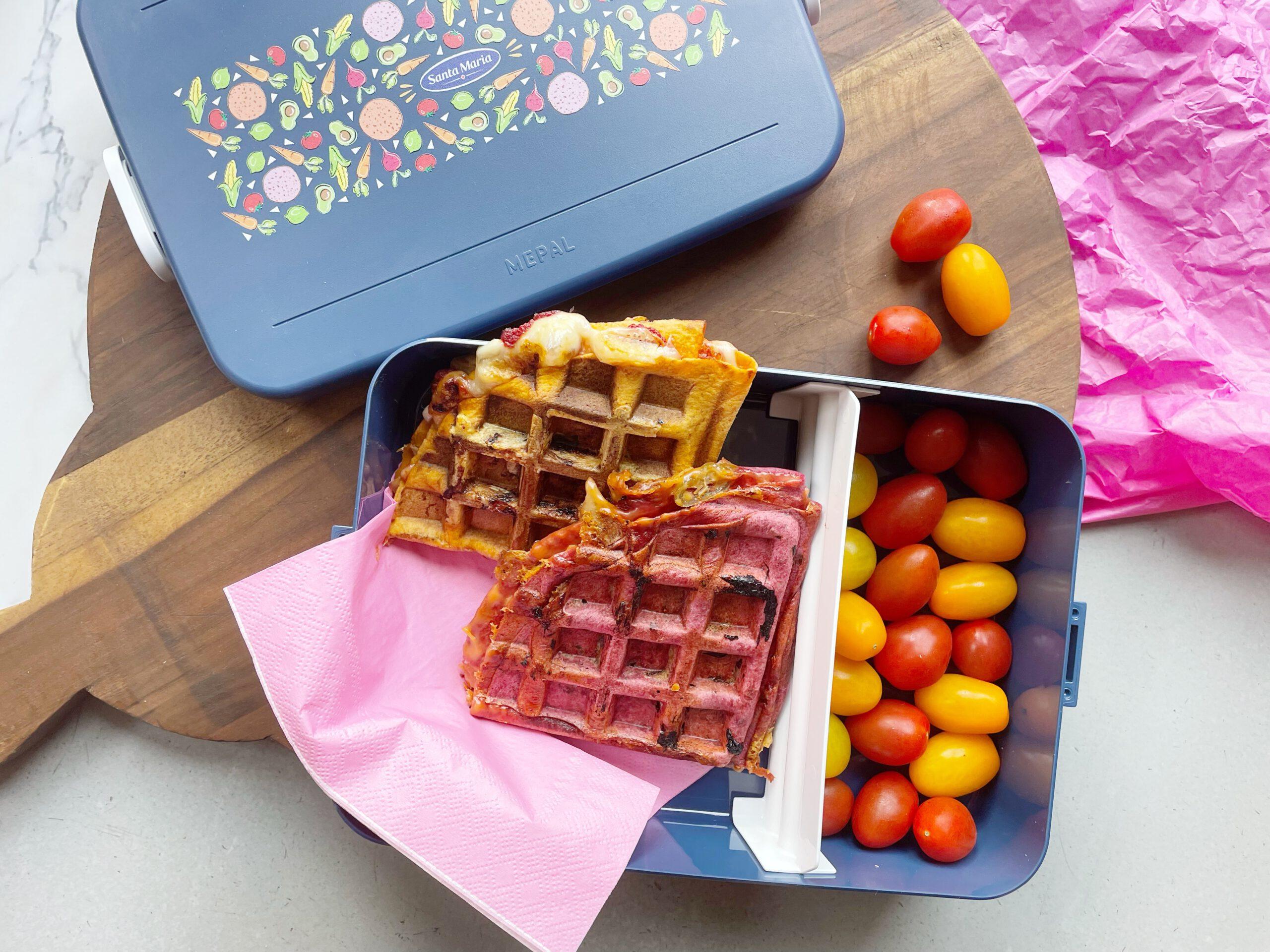 Mexicaanse lunch: maak gezonde wafels van wraps.